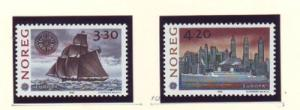 Norway Sc 1024-5 1992 Europa America stamp set mint NH