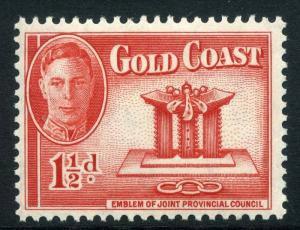 GOLD COAST;    1948 early GVI issue fine Mint hinged value  1.5d. .