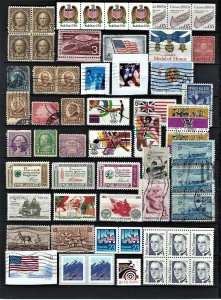 JASTAMPS: U.S.A very nice mixed collection from old album,stamps as per scan