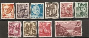 Germany Rheinland 6N30-8 1948-49 Without PF set NH