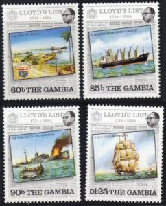 Gambia #519-22 MH cpl ships