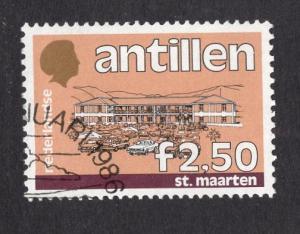 Netherlands Antilles  #546  1985  used  buildings 2.50  gld