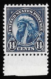 565 14 cents Indian Stamp Mint OG NH EGRADED XF 92 XXF