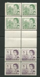 STAMP STATION PERTH Canada #455a QEII Definitive Gutter Booklet1967 MNH CV$1.50