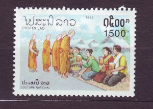 J23414 JLstamps 1992 laos hv of set mhr #1106 monks