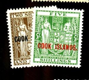 COOK ISLANDS #124A-125 MINT VF OG LH Cat $19  Cat $19