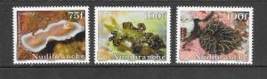 MARINE LIFE - FRENCH POLYNESIA #1074-6-NUDIBRANCHES  MNH