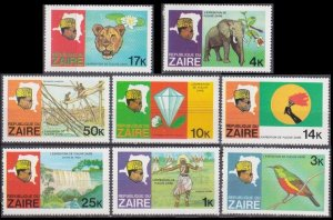 1979 Zaire 589-596 Zaire river expedition 3,50 €