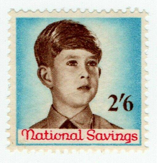 (I.B) Cinderella Collection : National Savings - Prince Charles 2/6d (1958)