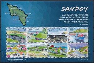 Faroe Islands 2006 #477 MNH. Sandoy, art, map