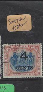 NORTH BORNEO  (P2601B)  4C/24C   ARMS , LION  SG 117   VFU