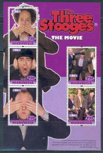 MICRONESIA  2012 THE THREE STOOGES MOVIE SHEET MINT NH