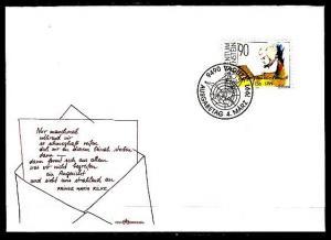 Liechtenstein, Scott cat. 958. Composer Mozart issue. First day cover. ^