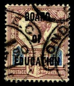 1902 GB #O65 Board of Education Official Wmk 30 - Used - VF - CV$850.00 (E#3799)