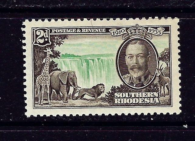 Southern Rhodesia 34 MH 1935 KGV Silver Jubilee