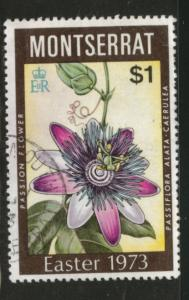 Montserrat Scott 291 1973 Passionflower stamp Used CV$2.25