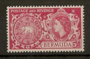 Bermuda 1953 5/- SG148 Mint Cat£23