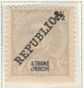 Portugal ST. THOMAS AND PRINCE ISLANDS 1913 2½r MH* A5P55F62