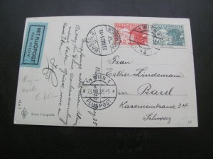 AUSTRIA 1930'S 7 AIRMAIL POST CARDS  NICE  LOT