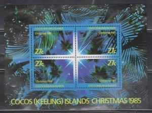 COCOS (KEELING) ISLANDS  Scott # 151 MH - Christmas 1985 Souvenir Sheet
