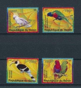 [105343] Benin private issue 2007 Birds vögel oiseaux parrots  MNH