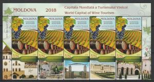 Moldova 2018 World capital of wine tourism MNH Sheet