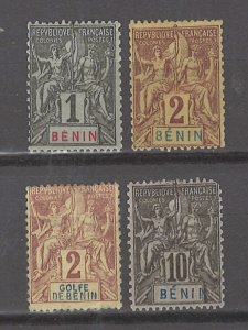 COLLECTION LOT # 3077 BENIN 4 MH STAMPS 1893+ CV+$21