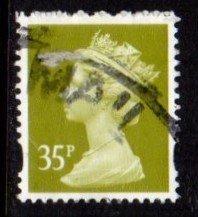 Great Britain - #MH352 Machin Queen Elizabeth II - Used