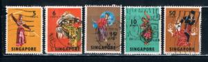 Singapore 86-89;93 Used Dancers (S0241)