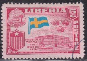 Liberia 370 President's Visit of Europe 1958