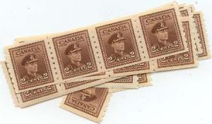 Canada USC #264 Mint (43) Virtually All VF All Fresh & NH Inc. Strip Of Four
