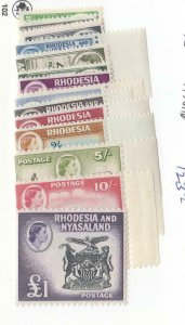 RHODESIA AND NYASALAND # 158-171 VF-MNH QE11 ISSUES CAT VALUE $123