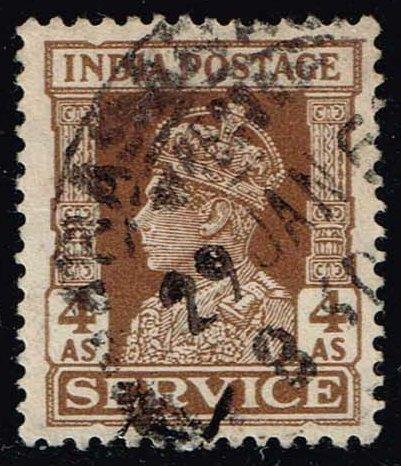 India #O111 King George VI - Official; Used (0.40)