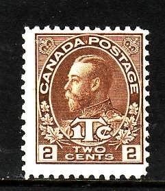 Canada-Sc#MR4-Unused 2c + 1c brown war tax -KGV-og-hinged-1916-Cdn742-