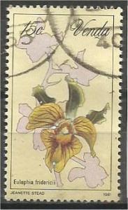 VENDA, 1981, used 15c, Orchids, Scott 49
