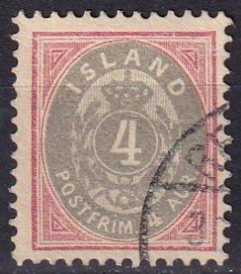 Iceland #23  F-VF Used CV $20.00 (Z7783)
