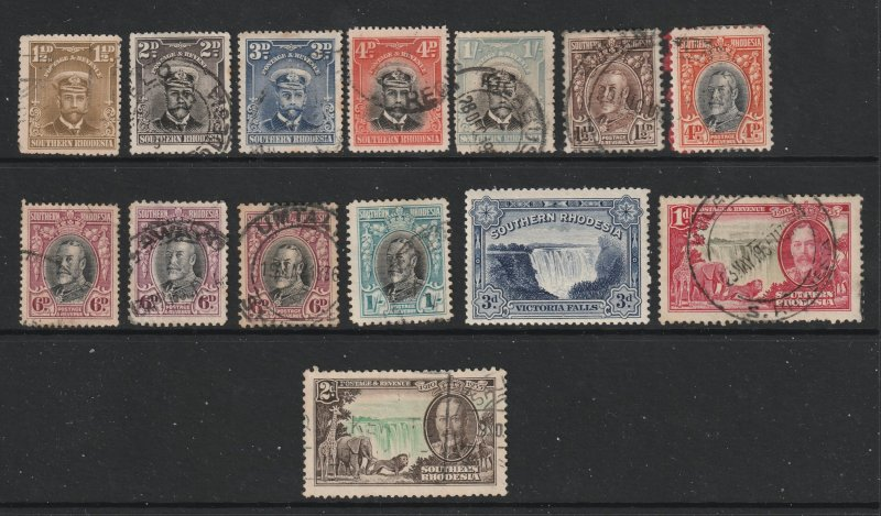Southern Rhodesia a small lot of used KGV