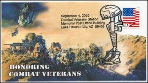 20-168, 2020,Combat Veterans, Event Cover, Pictorial Postmark, Lake Havasu City