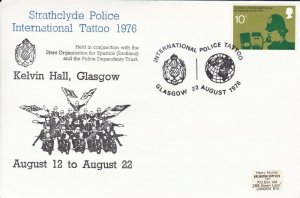 GBP126) FDC GB 1976, Strathclyde Police International Tattoo 1976 at Kelvin Hall