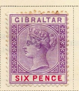 Gibraltar 1886 Early Issue Fine Used 6d. 326906