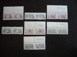 Stamps - Cuba - Scott# 794- 800 - Mint Hinged Set of 7 Stamps in Pairs