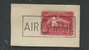 1945 United States Postal Stationary #UC9  Mint Cut Full Corner