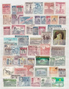 COLOMBIA  ^^^^^^x50 used  AIRPOSTS  collection $$ @ha1118colo18