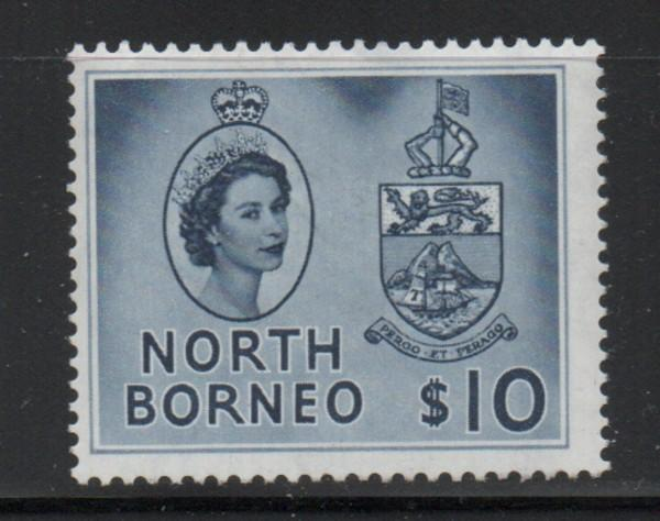 North Borneo Sc 295 1961$10 QE II & Seal stamp mint