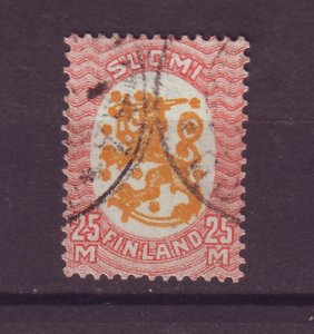 J25541 JLstamps 1917-30 finland used #110 arms