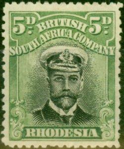 Rhodesia 1913 5d Black & Green SG212 (1) Fine Mtd Mint