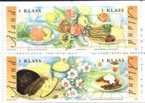 Aland Finland Sc 203 2002 Cuisine stamp set mint NH