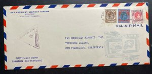 1941 Singapore Malaya First Flight Airmail Cover To San Francisco CA USA