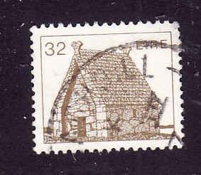 Ireland-Sc#640-used 32p brown St Mac Dara's Church-1985-8-