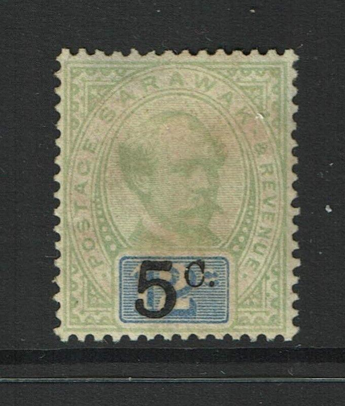 Sarawak SG# 25, Mint Hinged/, large page remnant - S979